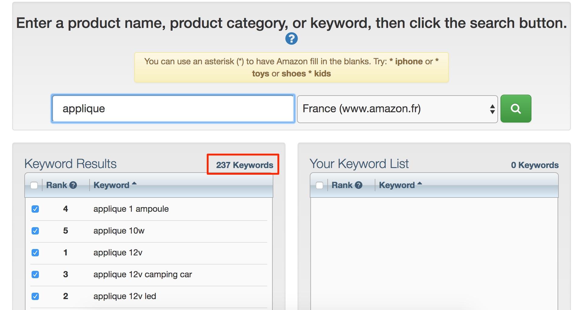 amazon mot clés e-commerce seo
