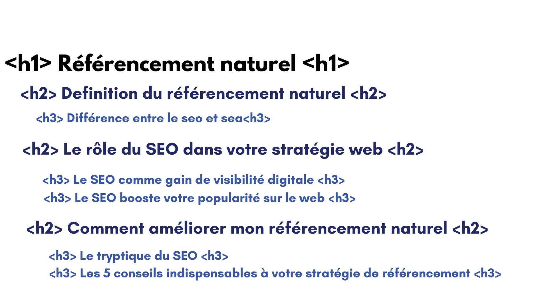 h1 seo referencement naturel cms