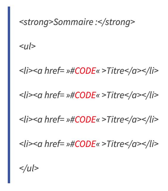 rediger-web-code-sommaire